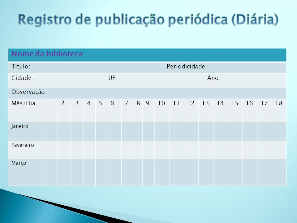 Registro de publicação periódica (Diária)