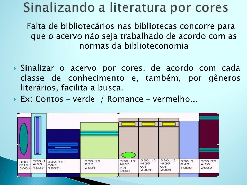 Sinalizando a literatura por cores