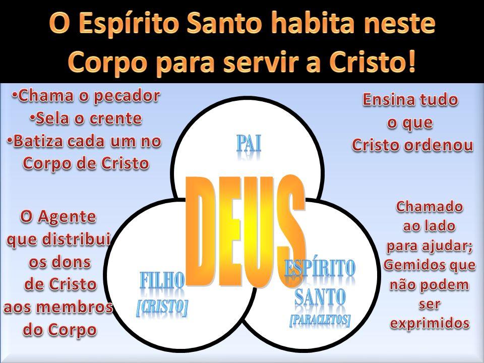 DEUS O Espírito Santo habita neste Corpo para servir a Cristo! pai