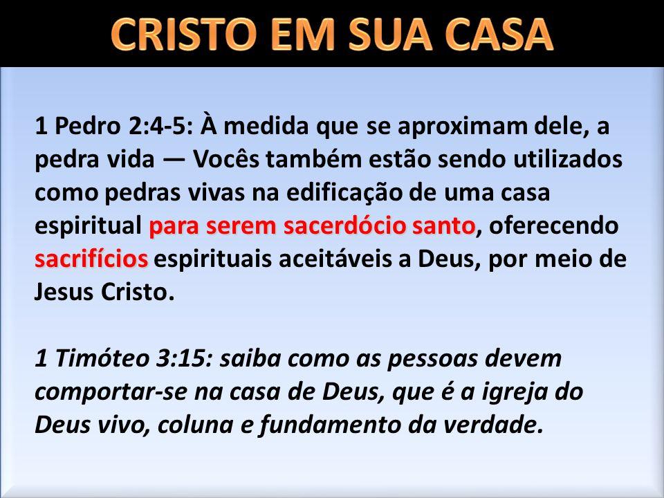 CRISTO EM SUA CASA