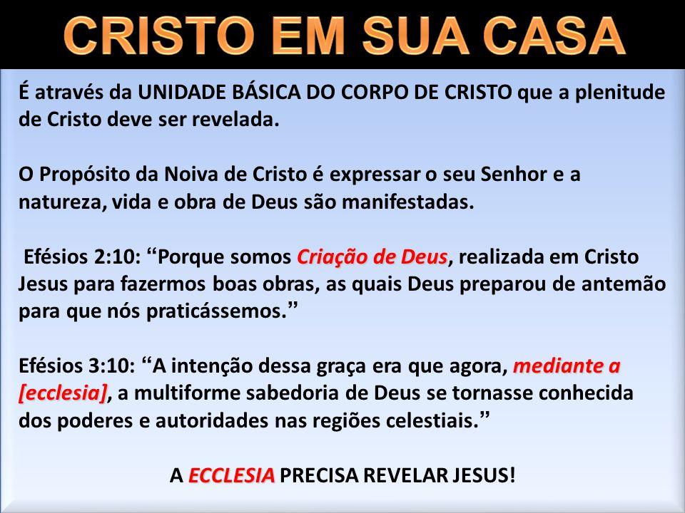 A ECCLESIA PRECISA REVELAR JESUS!