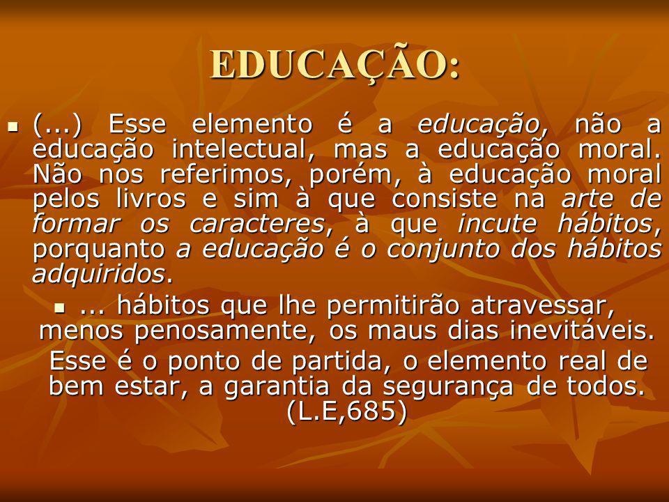 EDUCAÇÃO: