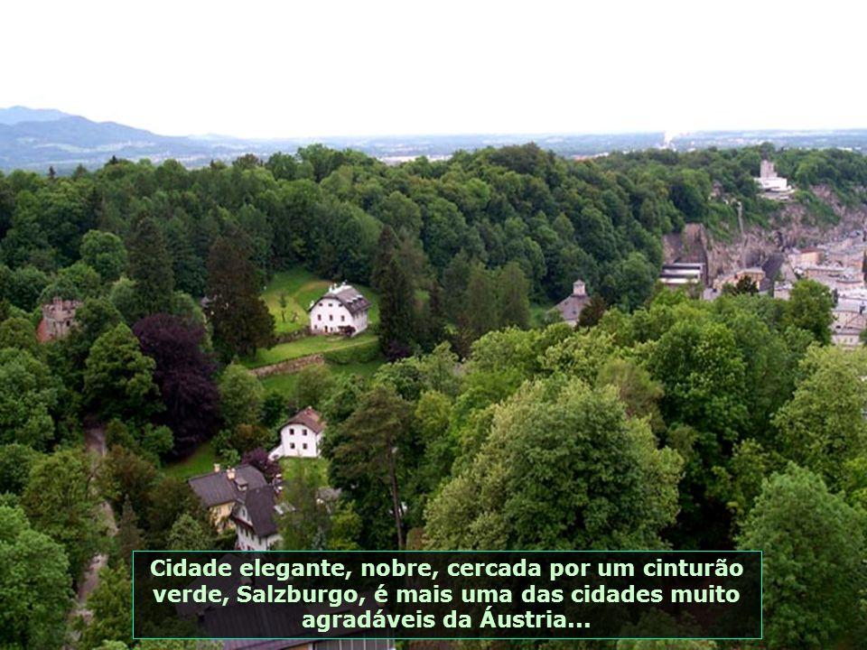 Cidade elegante, nobre, cercada por um cinturão verde, Salzburgo, é mais uma das cidades muito agradáveis da Áustria...