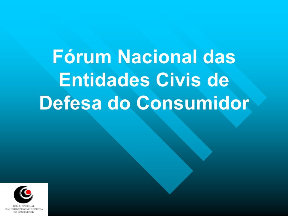 Fórum Nacional das Entidades Civis de Defesa do Consumidor