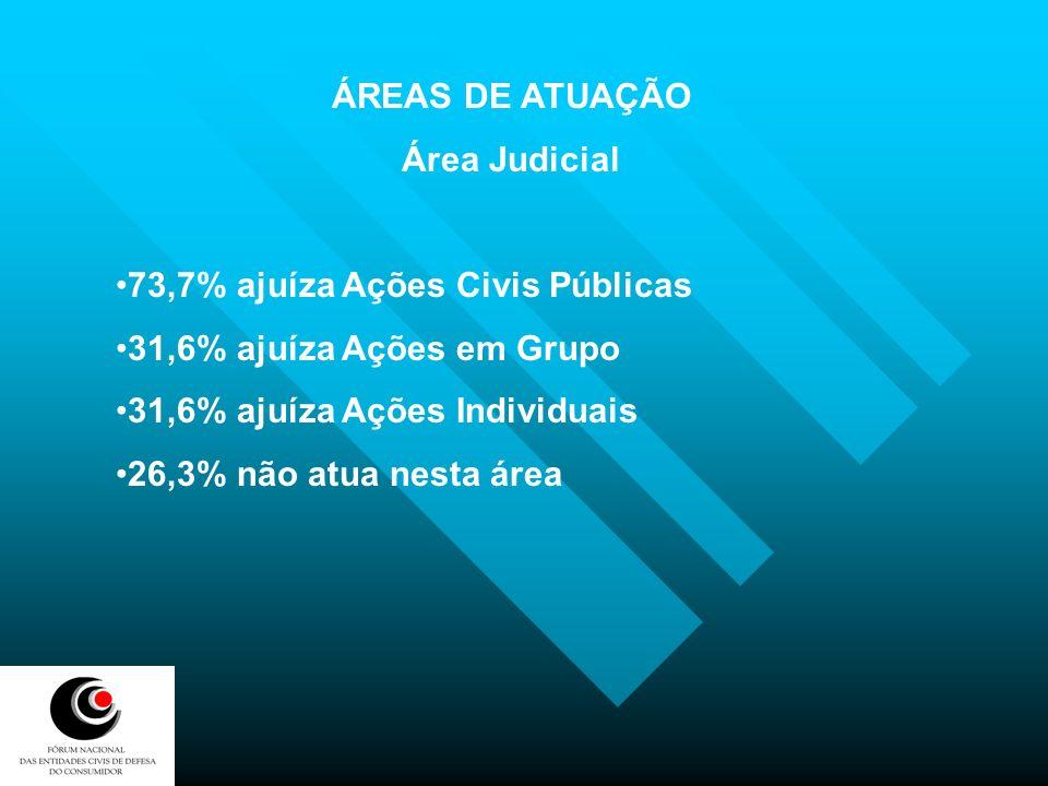 ÁREAS DE ATUAÇÃO Área Judicial