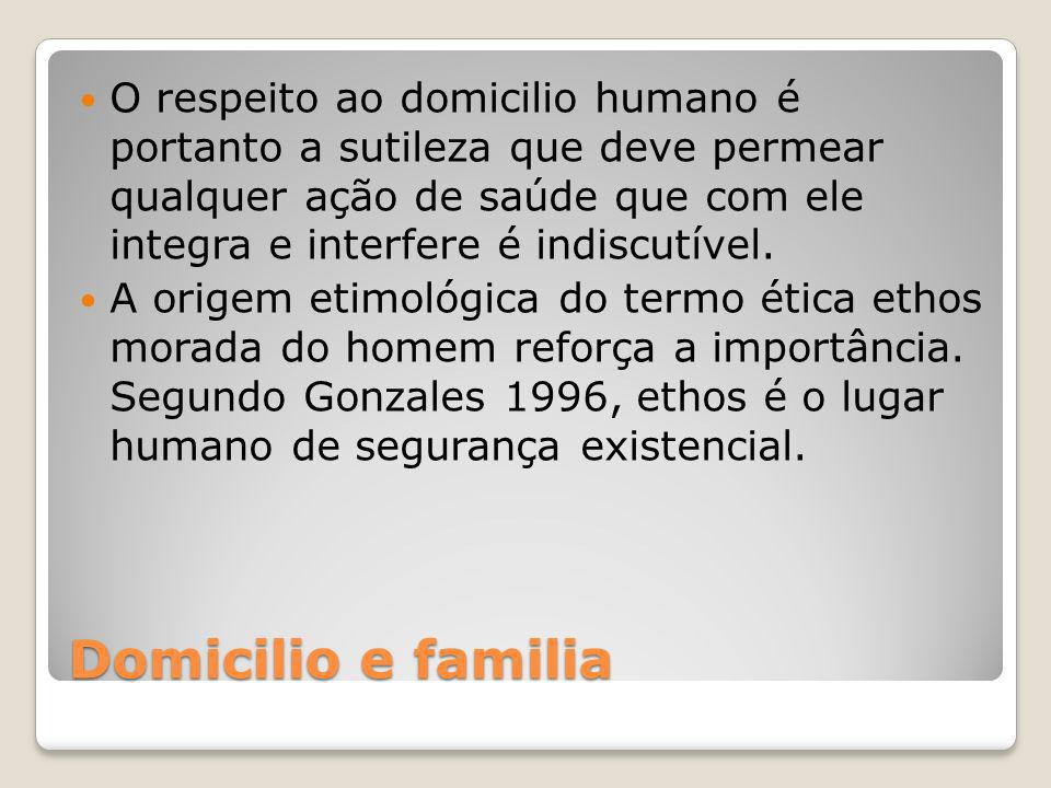 O respeito ao domicilio humano é portanto a sutileza que deve permear qualquer ação de saúde que com ele integra e interfere é indiscutível.