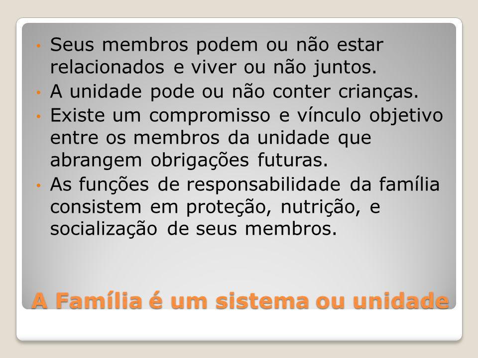 A Família é um sistema ou unidade