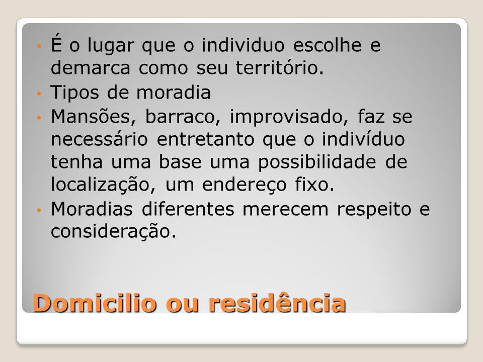 Domicilio ou residência