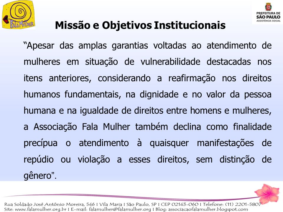 Missão e Objetivos Institucionais
