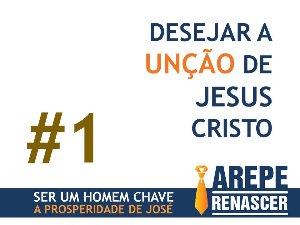 #1 UNÇÃO DE JESUS DESEJAR A CRISTO SER UM HOMEM CHAVE