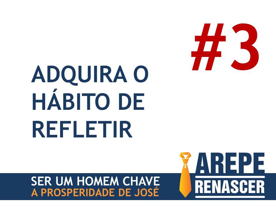 #3 ADQUIRA O HÁBITO DE REFLETIR SER UM HOMEM CHAVE