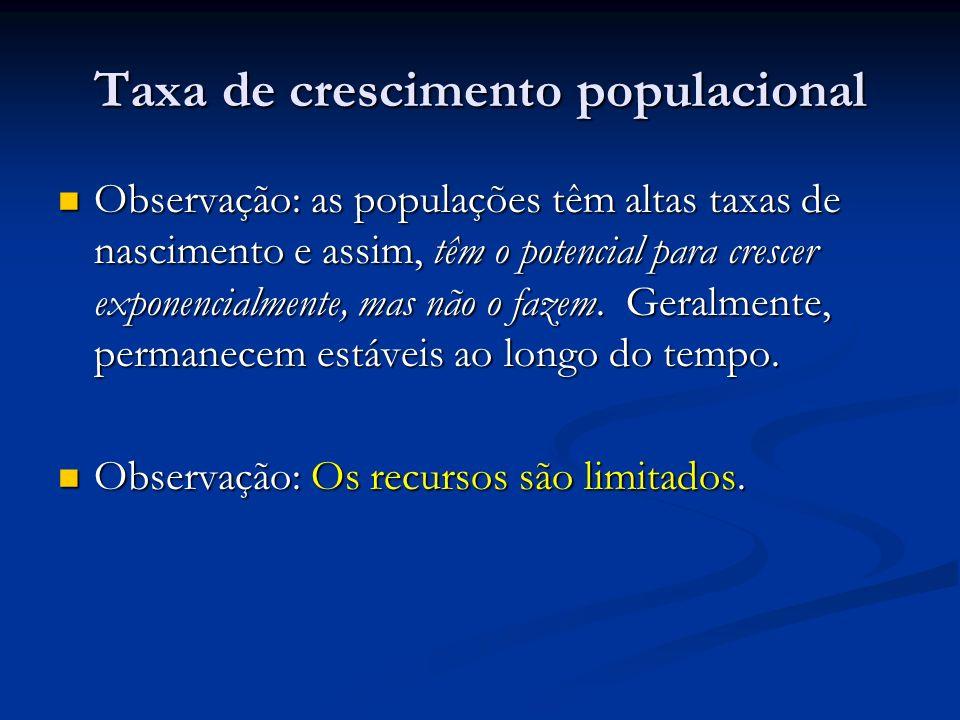 Taxa de crescimento populacional