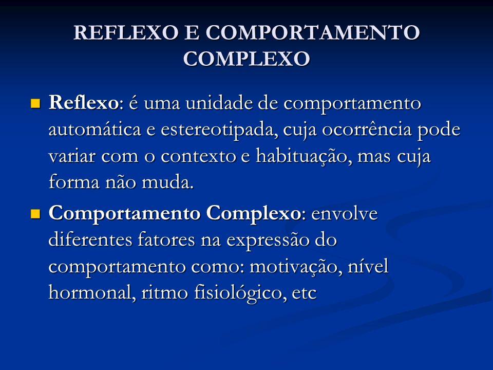 REFLEXO E COMPORTAMENTO COMPLEXO