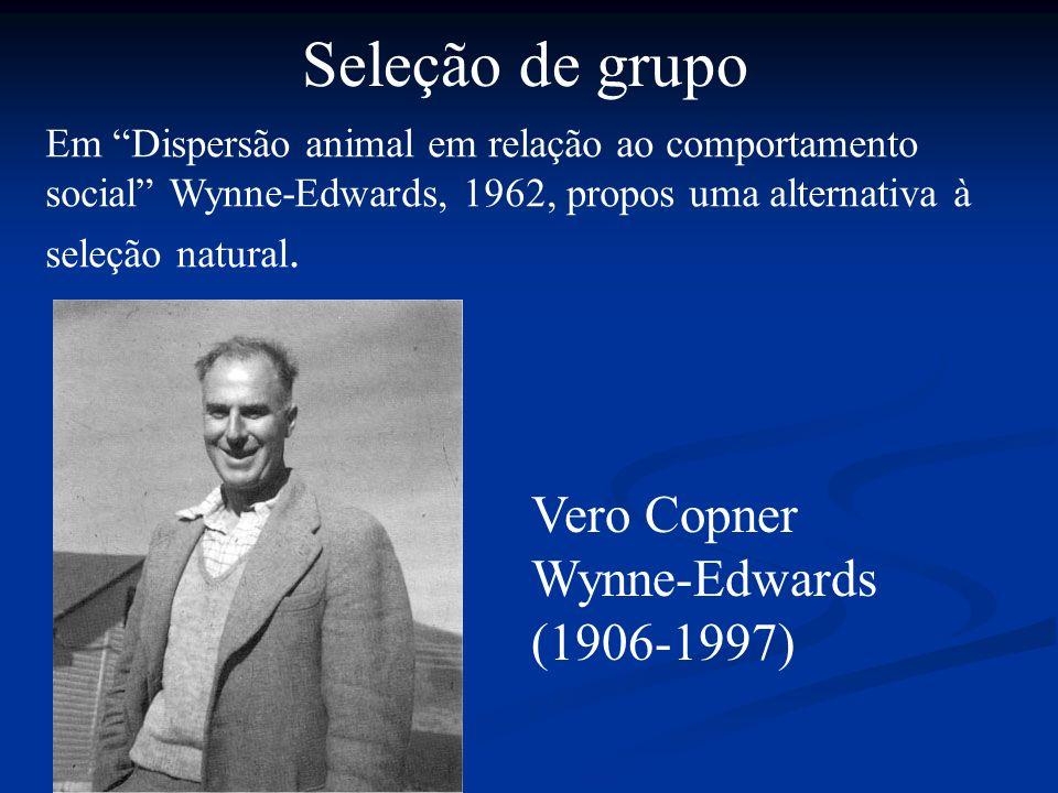 Seleção de grupo Vero Copner Wynne-Edwards (1906-1997)