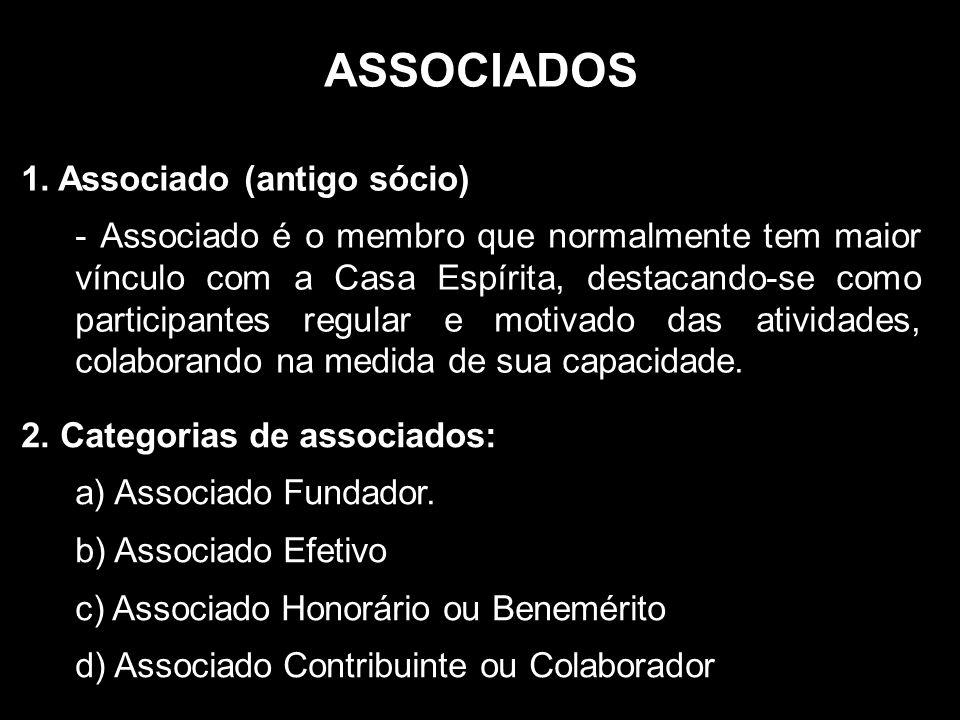 ASSOCIADOS 1. Associado (antigo sócio)