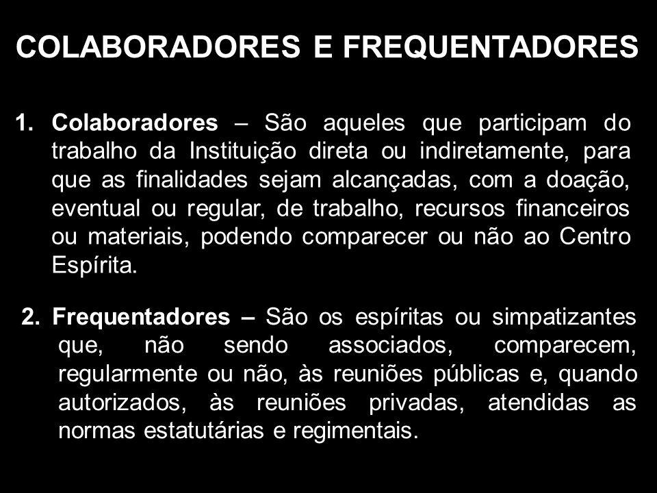 COLABORADORES E FREQUENTADORES