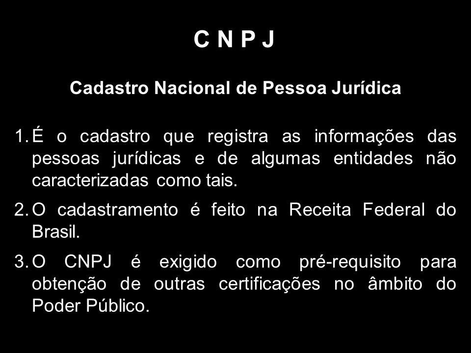 Cadastro Nacional de Pessoa Jurídica