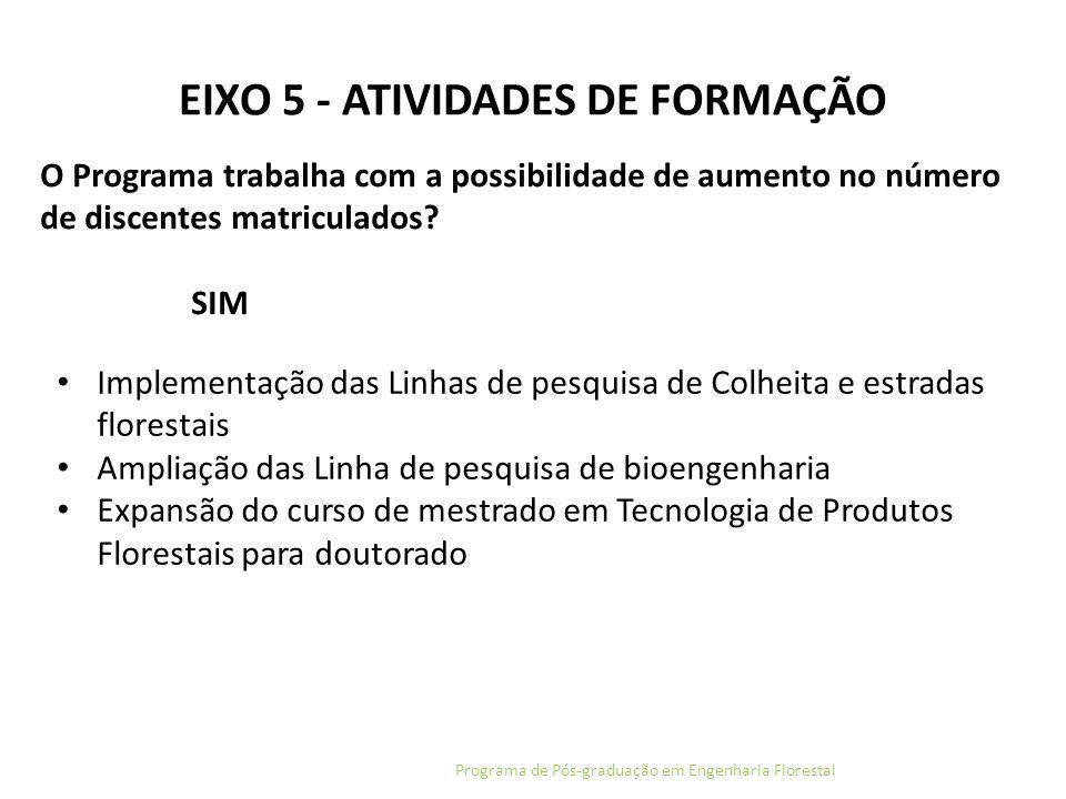 EIXO 5 - ATIVIDADES DE FORMAÇÃO