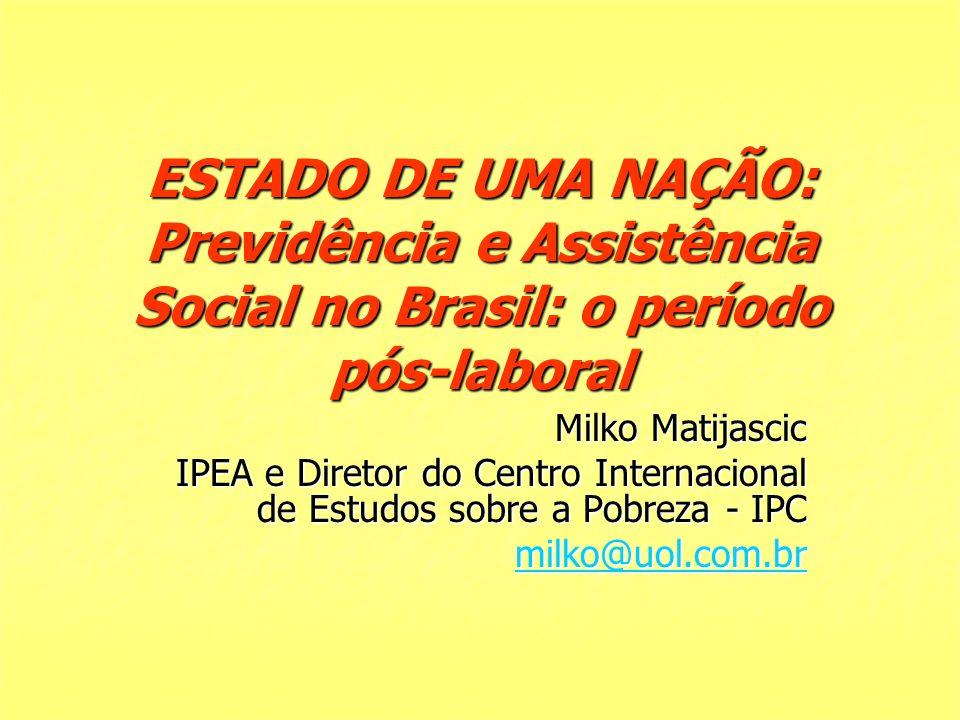 ESTADO DE UMA NAÇÃO: Previdência e Assistência Social no Brasil: o período pós-laboral