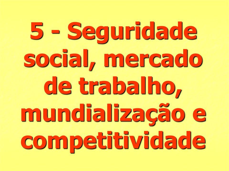 5 - Seguridade social, mercado de trabalho, mundialização e competitividade