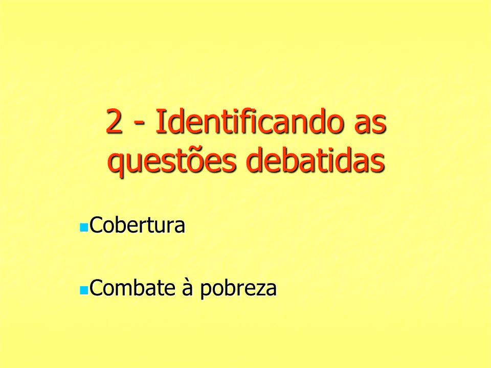 2 - Identificando as questões debatidas