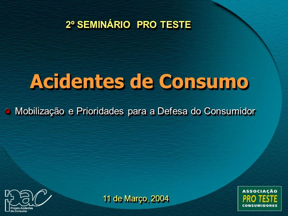 Acidentes de Consumo 2º SEMINÁRIO PRO TESTE