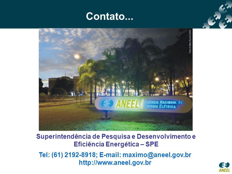 Tel: (61) 2192-8918; E-mail: maximo@aneel.gov.br
