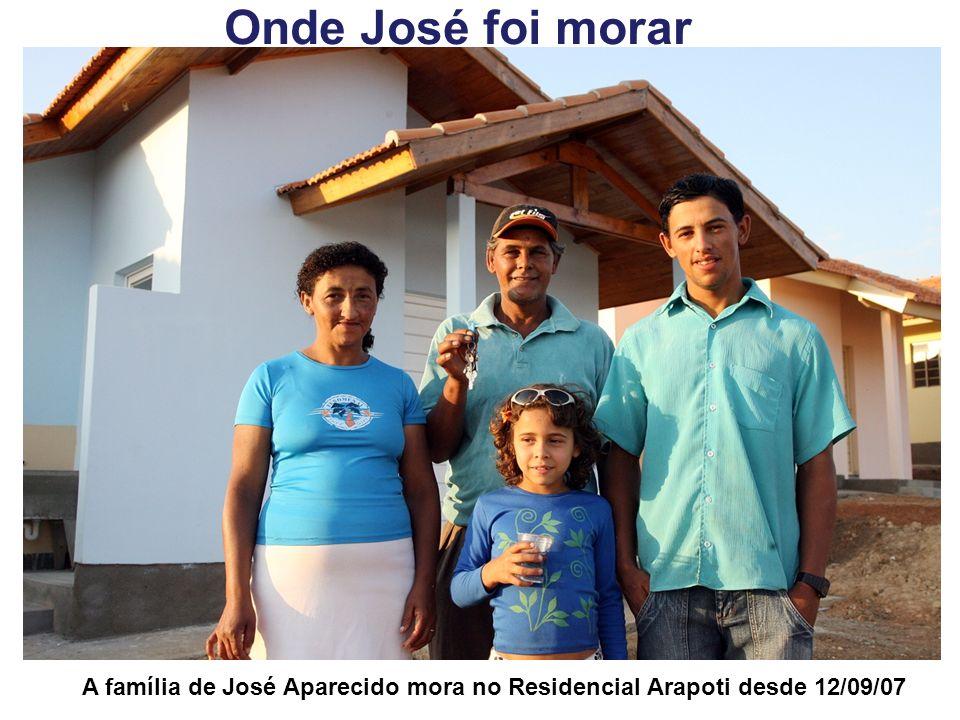 Onde José foi morar A família de José Aparecido mora no Residencial Arapoti desde 12/09/07
