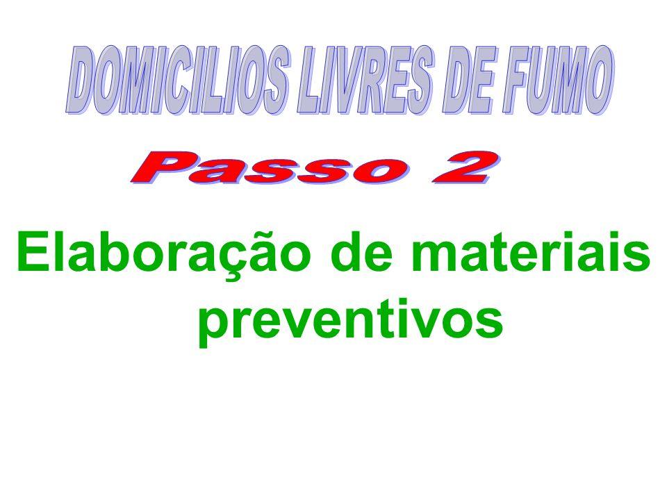 DOMICILIOS LIVRES DE FUMO Elaboração de materiais preventivos