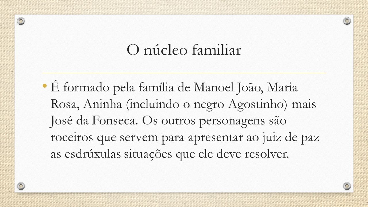 O núcleo familiar