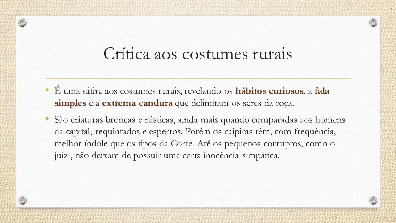 Crítica aos costumes rurais