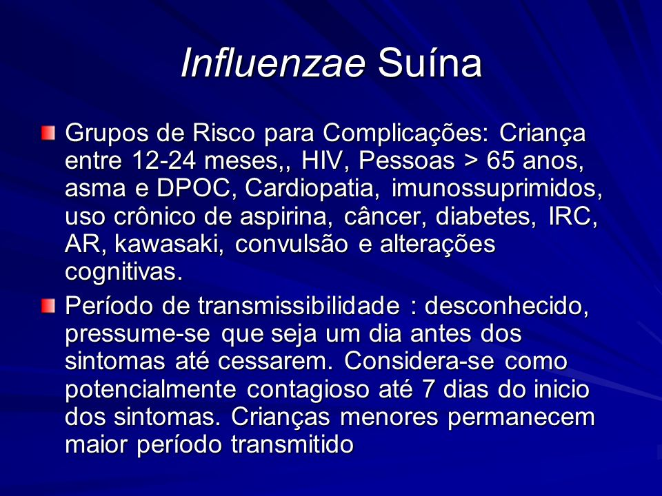Influenzae Suína