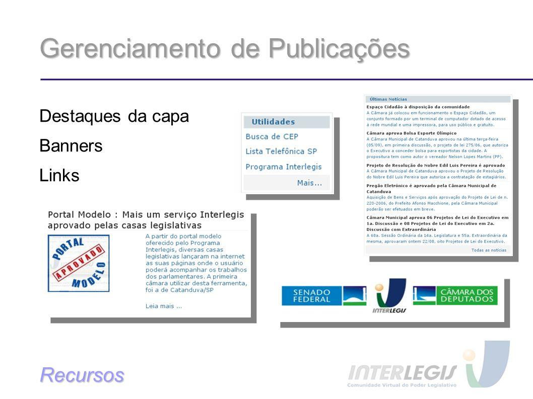 Gerenciamento de Publicações