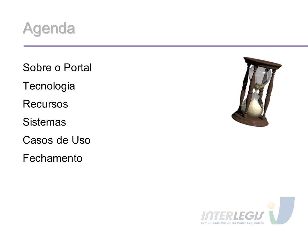 Agenda Sobre o Portal Tecnologia Recursos Sistemas Casos de Uso