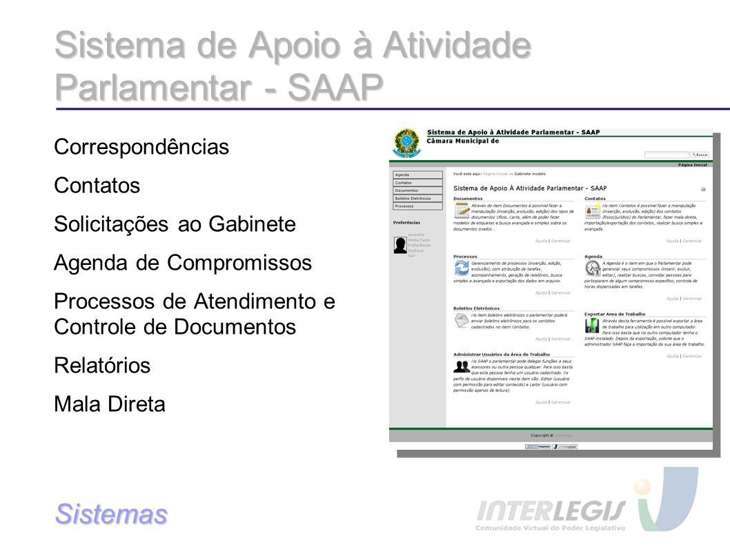 Sistema de Apoio à Atividade Parlamentar - SAAP
