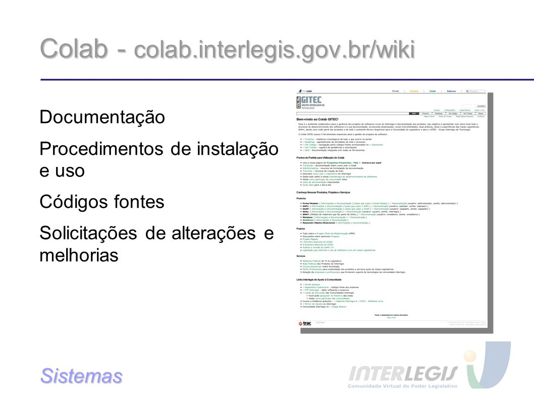 Colab - colab.interlegis.gov.br/wiki