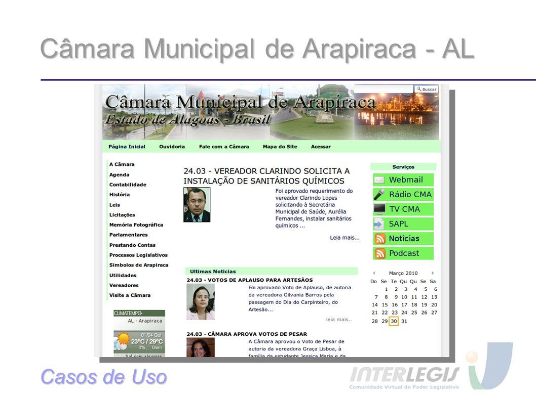 Câmara Municipal de Arapiraca - AL