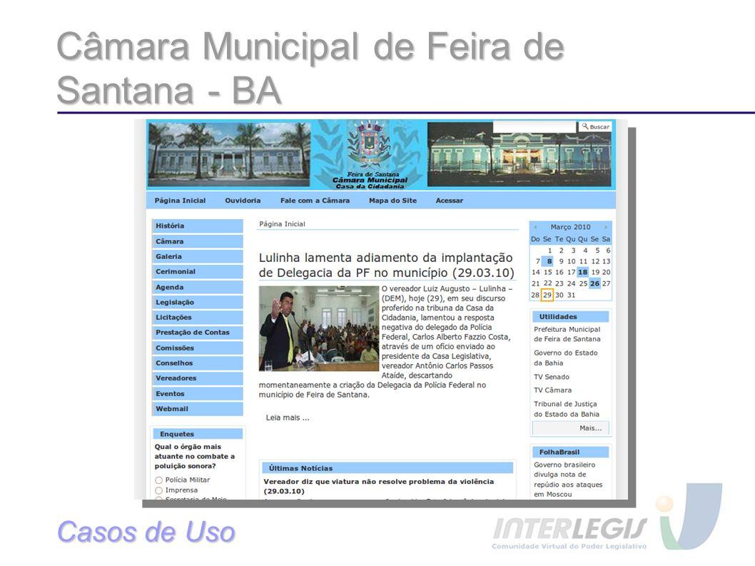 Câmara Municipal de Feira de Santana - BA