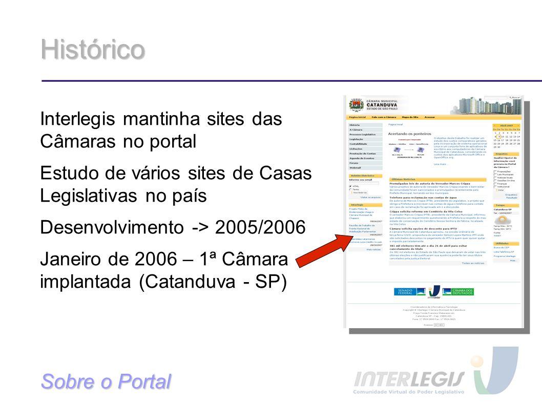 Histórico Sobre o Portal