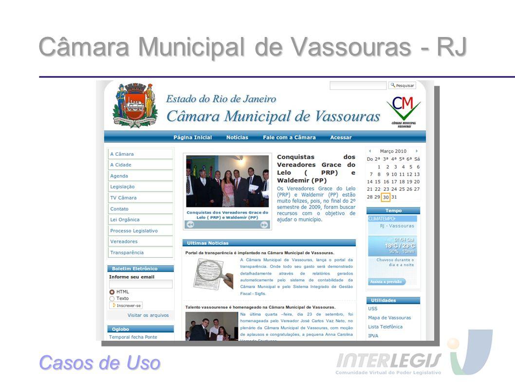 Câmara Municipal de Vassouras - RJ
