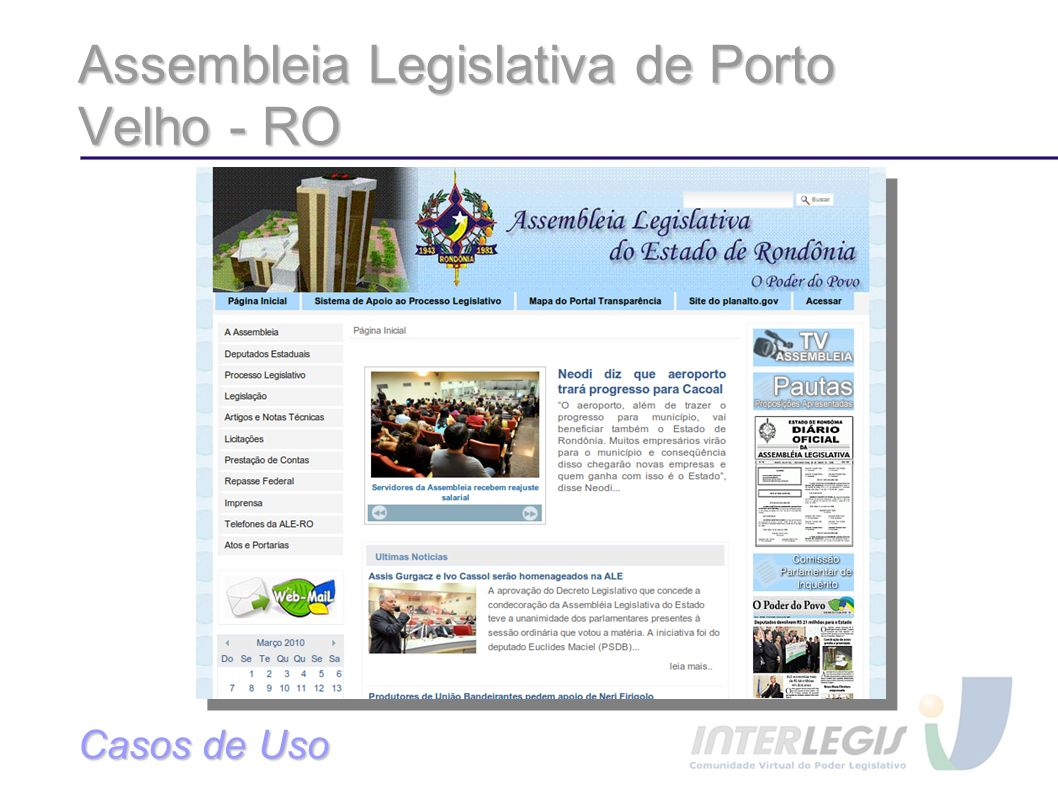 Assembleia Legislativa de Porto Velho - RO