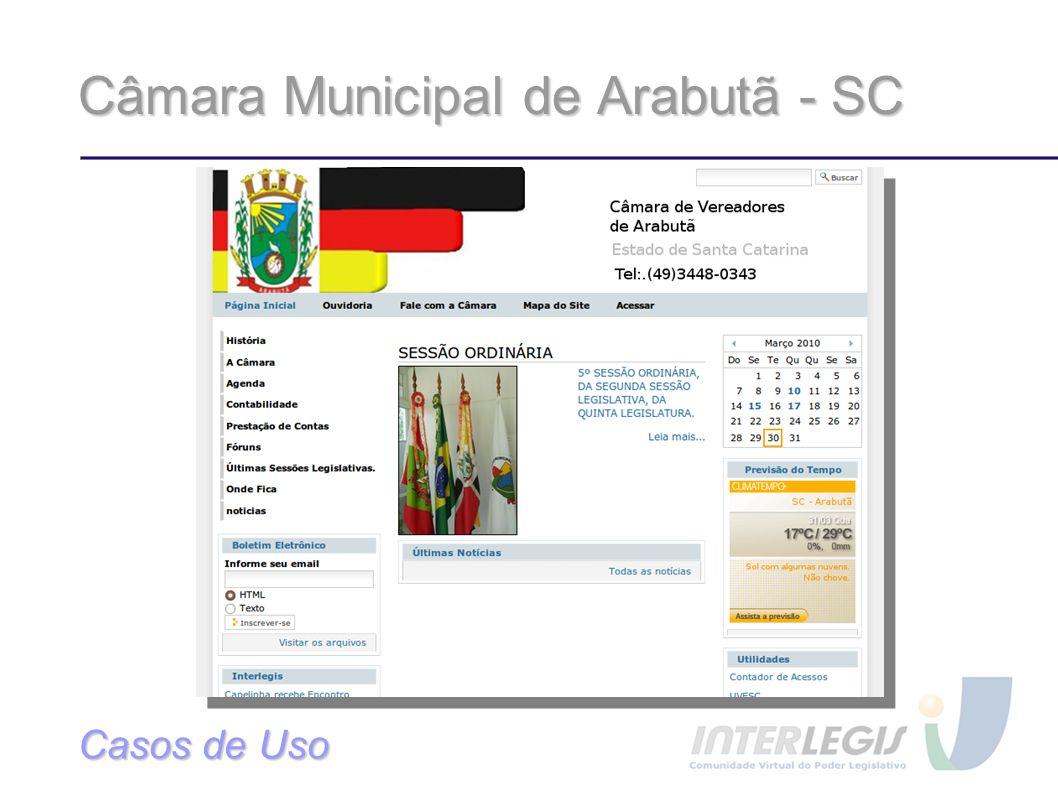 Câmara Municipal de Arabutã - SC