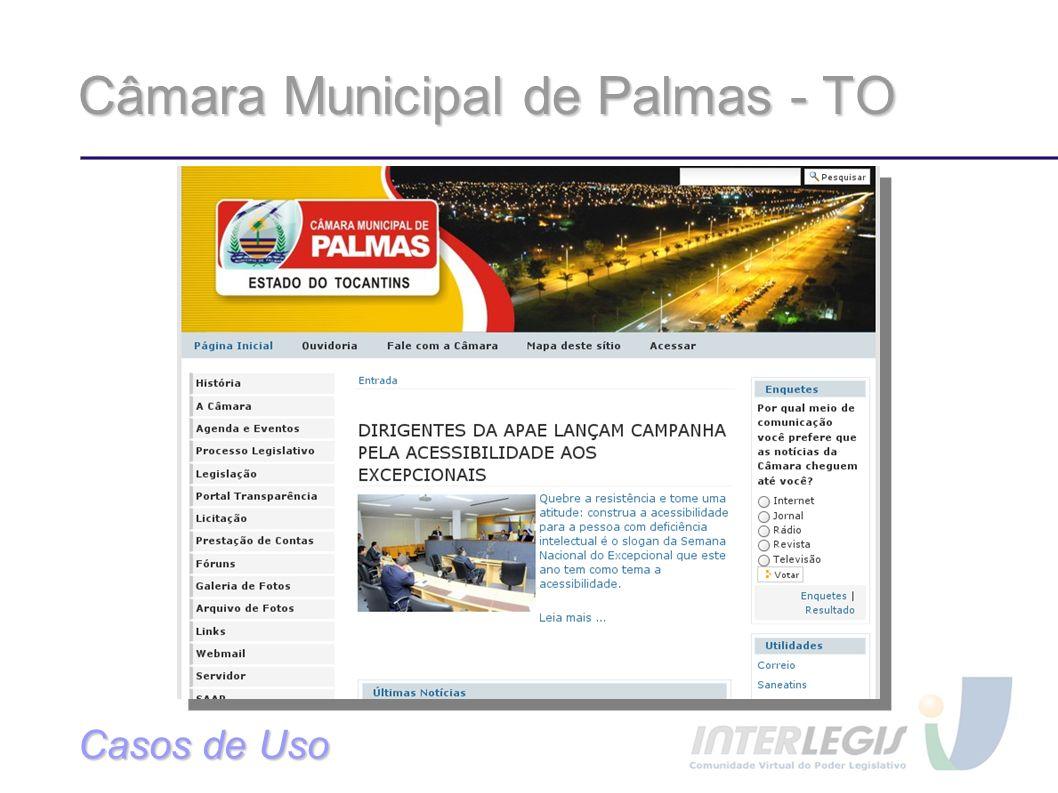 Câmara Municipal de Palmas - TO