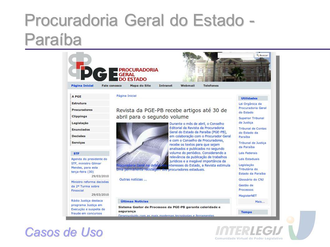 Procuradoria Geral do Estado - Paraíba