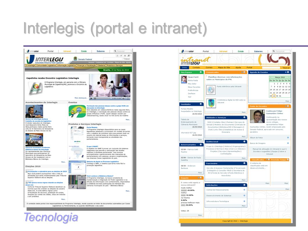 Interlegis (portal e intranet)‏