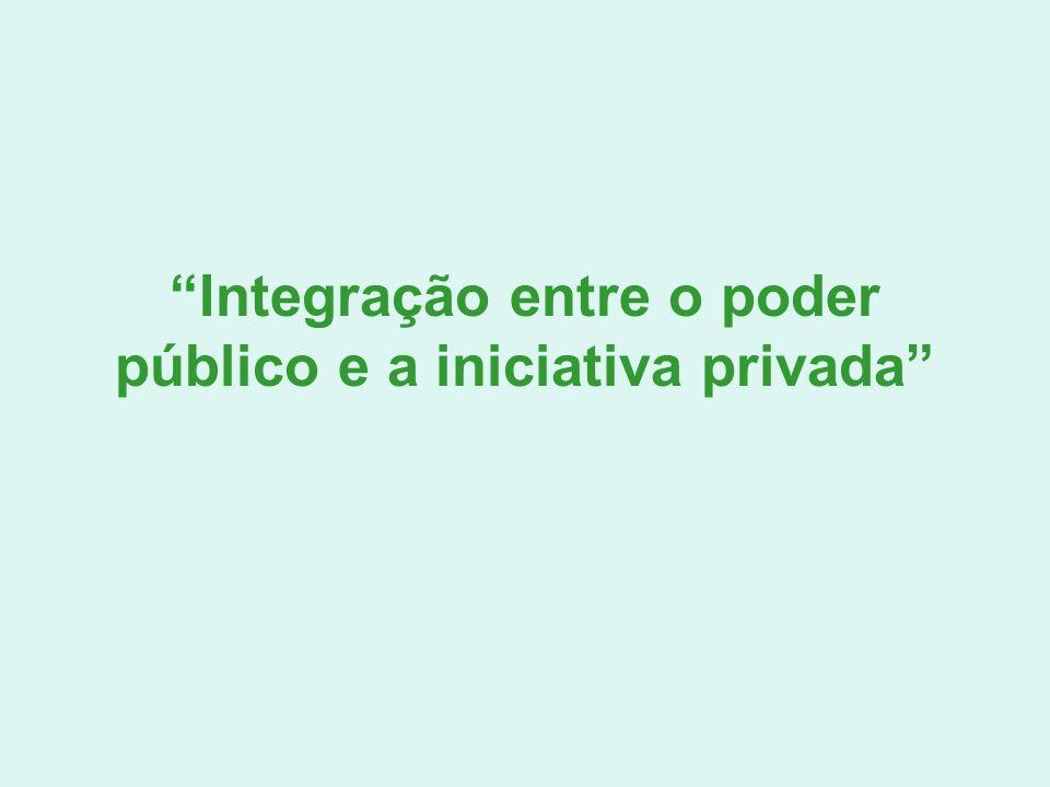 Integração entre o poder público e a iniciativa privada