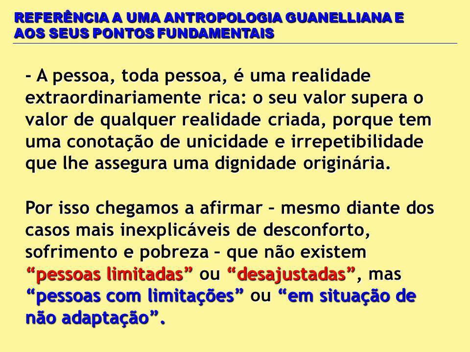 REFERÊNCIA A UMA ANTROPOLOGIA GUANELLIANA E AOS SEUS PONTOS FUNDAMENTAIS