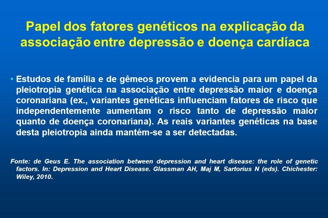 Papel dos fatores genéticos na explicação da associação entre depressão e doença cardíaca