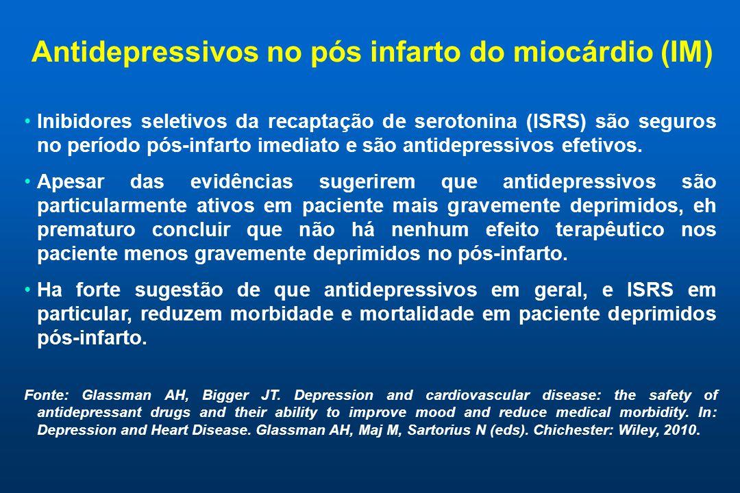 Antidepressivos no pós infarto do miocárdio (IM)