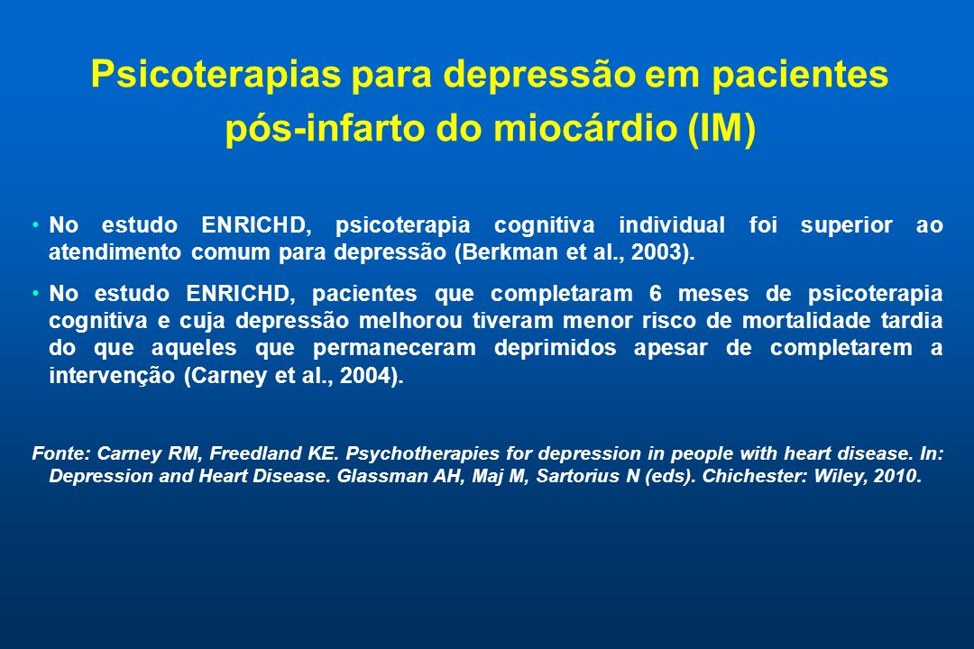 Psicoterapias para depressão em pacientes